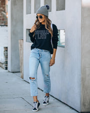 Totally Late Cotton Blend Sweatshirt