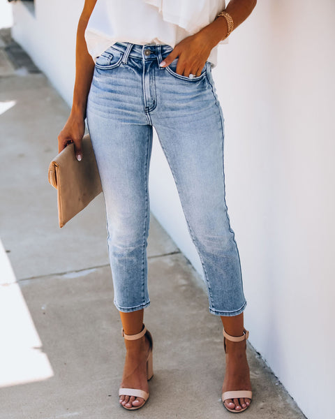 Gabe High Rise Crop Denim