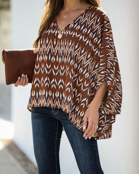 Keep In Touch Shimmer Statement Blouse  - FINAL SALE