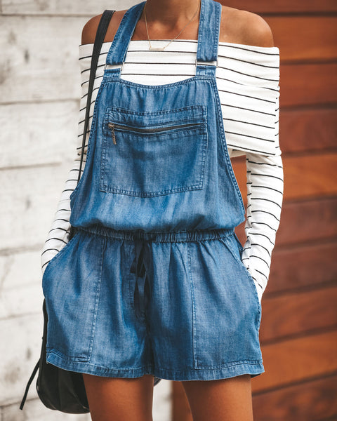 Hot Hot Hot Drawstring Tencel Overalls - Vintage Wash - FINAL SALE