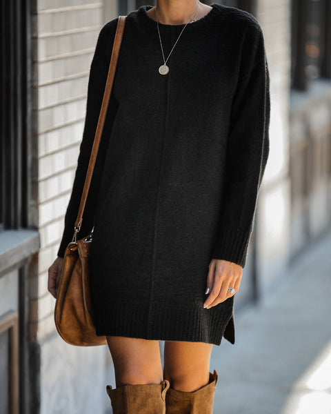 Smoky Mountain Sweater Dress - Black - FINAL SALE