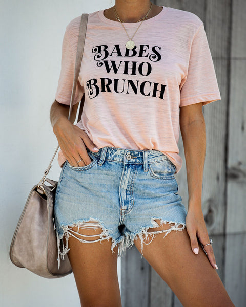 Babes Who Brunch Cotton Blend Tee