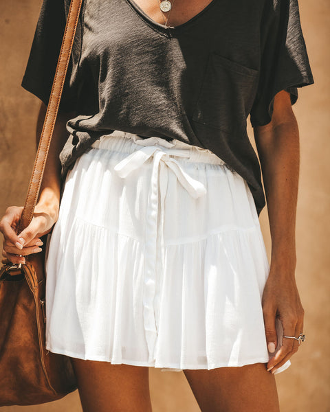 Brave Spirit Adjustable Flutter Skirt - White