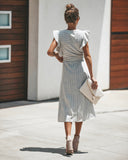 On A Pedestal Pocketed Midi Dress