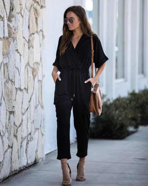 Fight For Love Pocketed Knit Jumpsuit