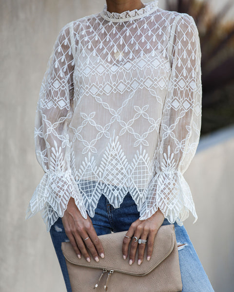 Use Your Imagination Embroidered Statement Blouse - FINAL SALE