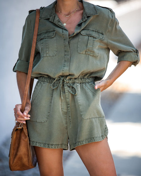 Worth The Trek Pocketed Tencel Romper
