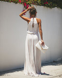 Camilla Adjustable Halter Maxi Dress