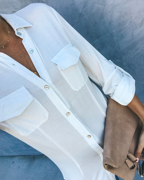 Good On You Button Down Top - Ivory