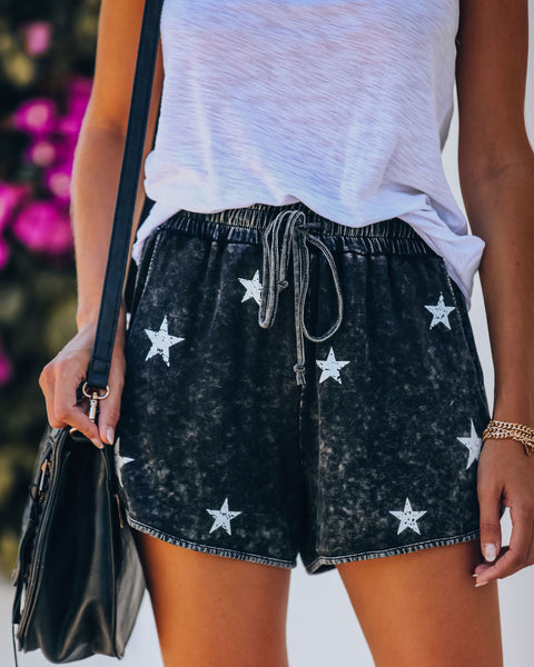 PREORDER - Catch A Falling Star Pocketed Knit Shorts