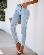 Echo High Rise Vintage Denim view 7