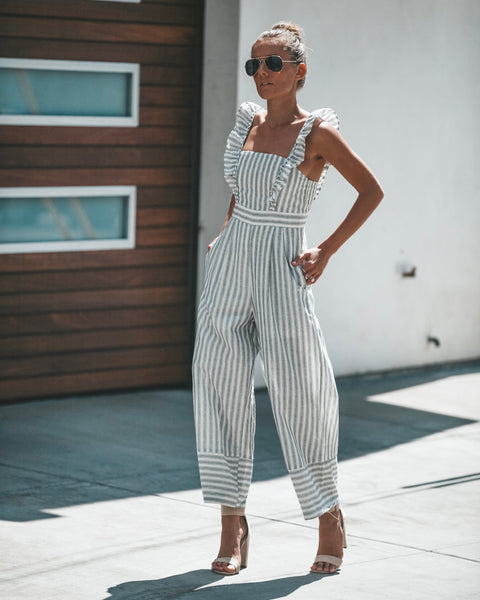 PREORDER - Fresh Start Pocketed Jumpsuit
