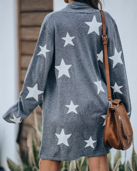 Milky Way Pocketed Knit Cardigan - FINAL SALE