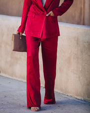 Celebrate Big Satin Tie Front Trousers - Red - FINAL SALE view 5