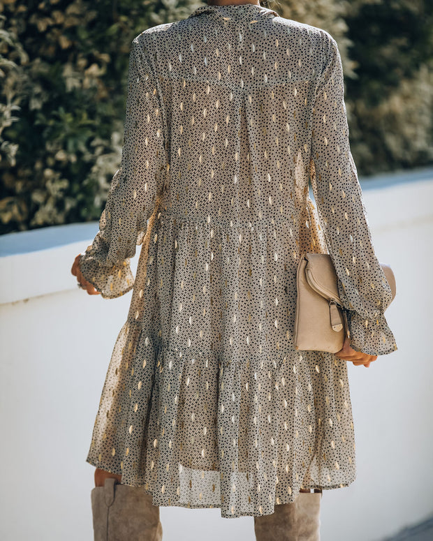 The Golden Days Tiered Babydoll Dress - Taupe