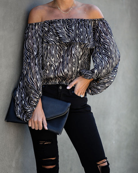 Rooftop At Sundown Off The Shoulder Blouse