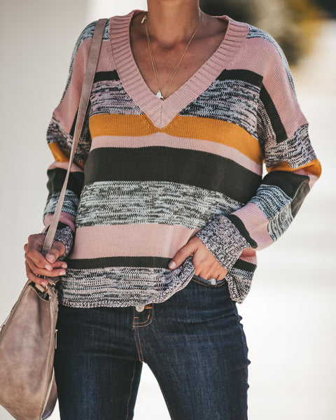Revelio Striped Knit Sweater