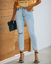 Lennon Distressed High Rise Denim view 7