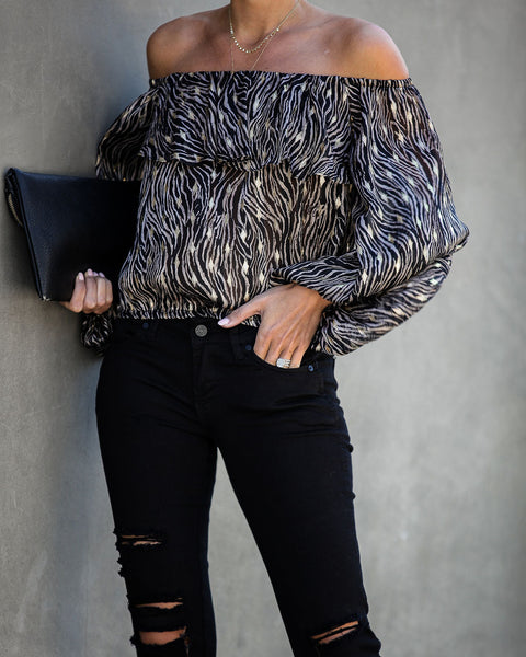 Rooftop At Sundown Off The Shoulder Blouse - FINAL SALE