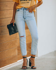 Lennon Distressed High Rise Denim view 10