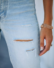 Melville High Rise Distressed Denim view 4