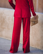 Celebrate Big Satin Tie Front Trousers - Red - FINAL SALE view 2