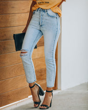 Lennon Distressed High Rise Denim view 11