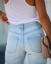 Melville High Rise Distressed Denim view 9
