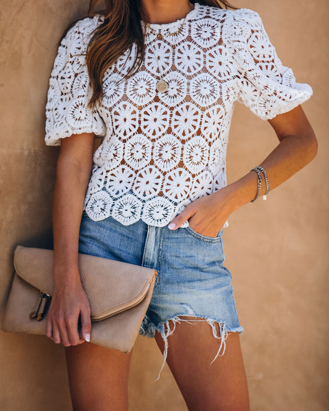 Sun Daze Cotton Crochet Top - FINAL SALE