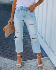Melville High Rise Distressed Denim view 10