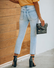 Lennon Distressed High Rise Denim view 2