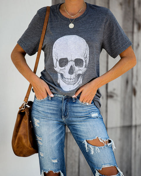 PREORDER - Skull Cotton Blend Tee