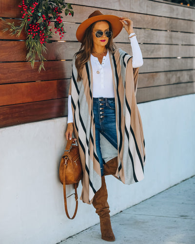 Chanice Cotton Blend Striped Knit Duster