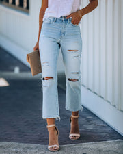 Melville High Rise Distressed Denim view 5