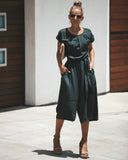 Cloth + Cool Pocketed Jumpsuit - Charcoal - FINAL SALE