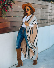 Chanice Cotton Blend Striped Knit Duster - FINAL SALE view 7