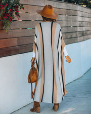 Chanice Cotton Blend Striped Knit Duster - FINAL SALE view 2