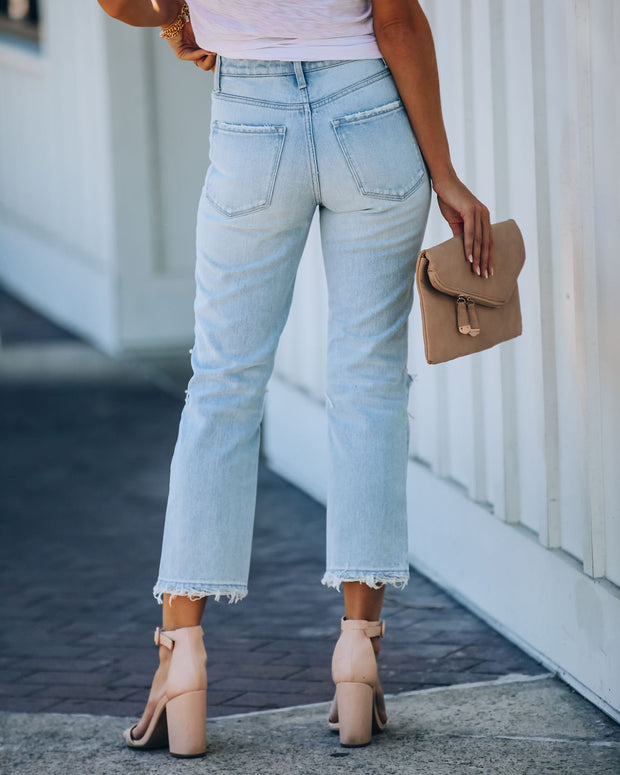 Melville High Rise Distressed Denim view 2