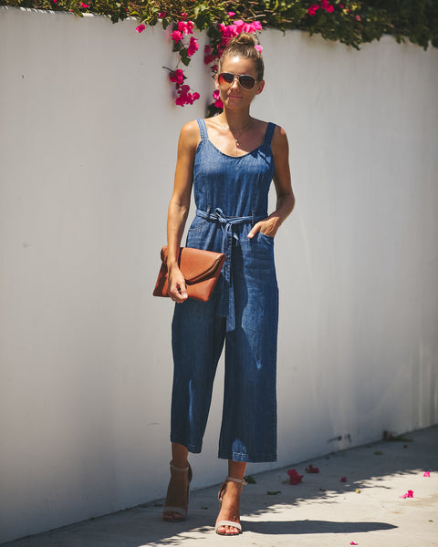 Eden Pocketed Denim Jumpsuit
