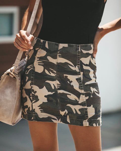 Break Ranks Cotton Camo Skirt