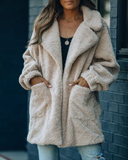 Xenia Pocketed Coat - Beige
