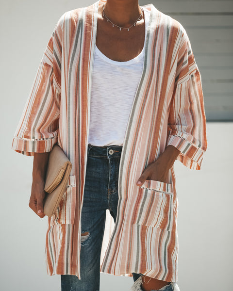 Bixby Cotton Pocketed Cardigan - FINAL SALE