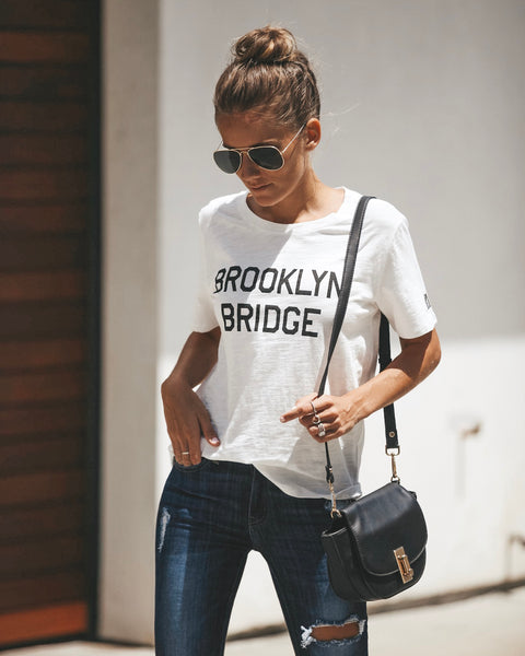 Brooklyn Bridge Cotton Tee - FINAL SALE
