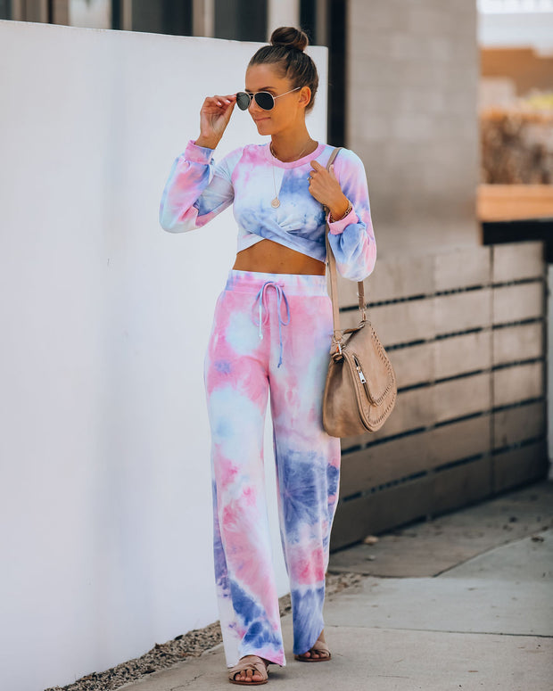 Extra Daylight Tie Dye Flared Knit Pants