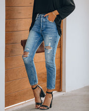 Sofia Distressed High Rise Denim