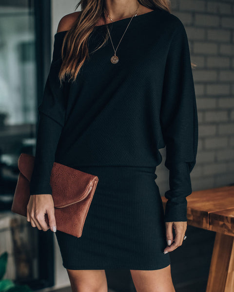 Gabrielle Ribbed Knit Dress