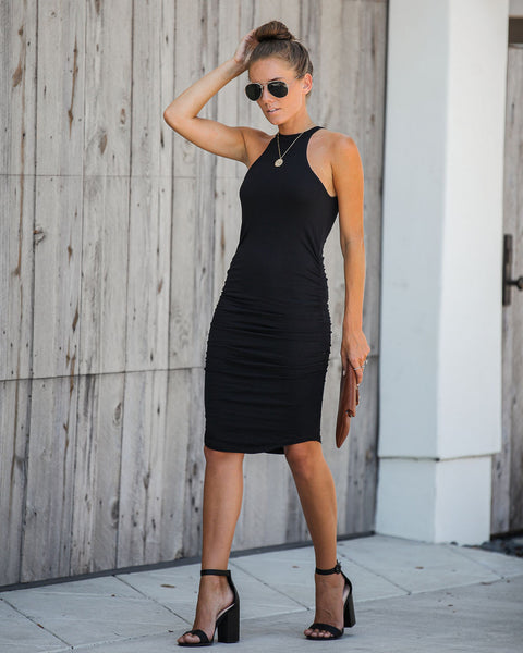 Of The Hour Ruched Bodycon Dress