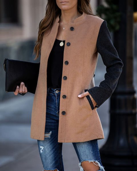 Poughkeepsie Pocketed Button Down Coat - FINAL SALE