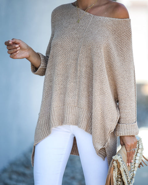 Quincy Knit Sweater - Taupe