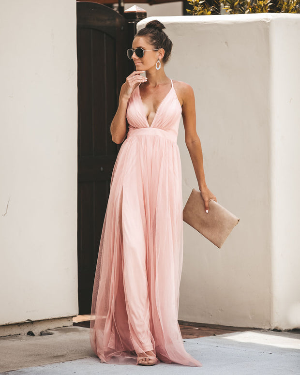 Petal Dust Maxi Dress - Blush